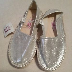 Other - Brand new girls silver flat shoes size 12
